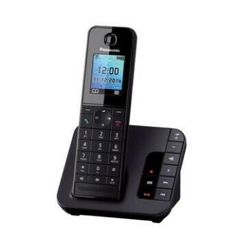 Panasonic-KX-TGH220GB-schwarz-matt-mit-AB